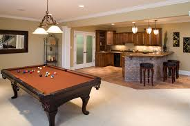 basement game room and bar in residential home gerety building