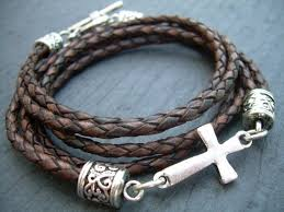 men bracelet cross images Men leather bracelet mens bracelets leather cross bracelet etsy jpg