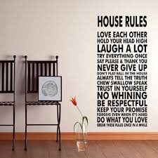 Wall Decals For Dining Room House Rules Vinyl Wall Decal Sticker We Do Art Vinyl By Happywallz