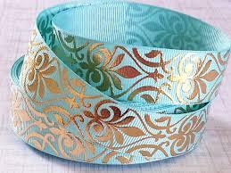 damask ribbon rm gold foil damask 7 8 bellissimo ribbon splits online store