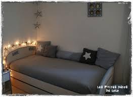 tuto deco chambre diy déco chambre de fille une guirlande lumineuse étoilée les p