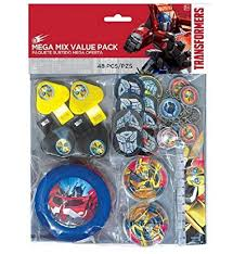 transformer party favors transformers 48 mega mix value party favor pack