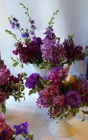 Baby Shower Flower Centerpieces by Purple Flower Purple Lilac Milky Glass Minneapolis Baby Shower