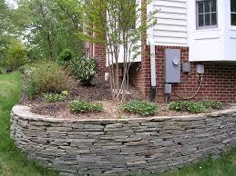 Small Garden Retaining Wall Ideas Minimalist Design Of Curve Retaining Wall For Small Garden Beside