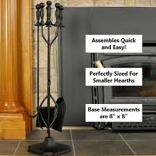 5 piece black fireplace tool set f t51030bk northline express