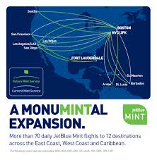 Las Vegas Terminal Map by Jetblue To Dramatically Expand Its Mint Service One Mile At A Time