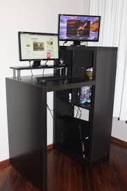 Small Black Desk Canada Furniture Amazing Small Standing Desk Design Custom Decor