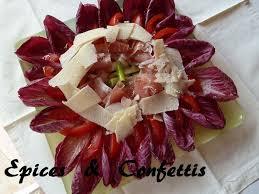 cuisine tv eric leautey salade carmine jambon de parme parmesan epices confettis