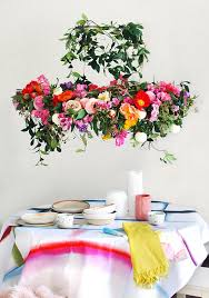 hanging flowers tutorial make a hanging flower chandelier for your next party