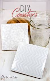 how to make coasters from ceramic tiles