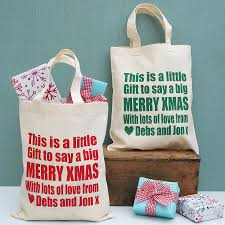 personalised merry christmas gift bags by sparks living