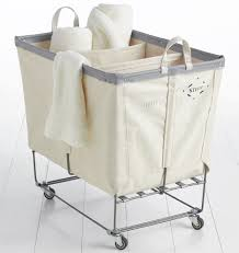 stylish laundry hampers 3 section steele canvas laundry bin natural rejuvenation