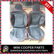 housse siege mini cooper marque nouveau importé pu matériau bord noir couleur jcw