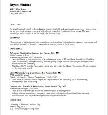 Warehouse Resume Samples Free by Executive Summary Resume Example Format Of Resume Summary Example