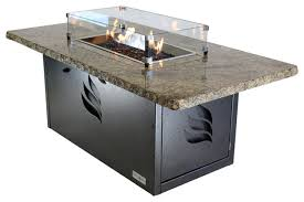 Granite Fire Pit by Rectangle Granite Fire Table New Venetian Gold With Silver Base