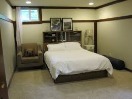 bedroom spacious bedroom ideas for basement with cool black