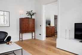 home with clean lines and two old cabinets coco lapine