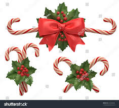 decorations cristmas candys ribbon holly berry stock illustration