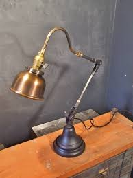 vintage industrial style desk lamp w copper shade on storenvy