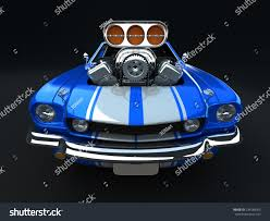 cartoon jeep front blue cartoon muscle car on black stock illustration 234788365