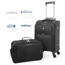 Luggage United Airlines Aerolite 22x14x9 U2033 Carry On Max Lightweight Upright Travel Trolley