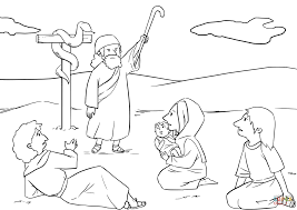 moses made a bronze snake and put it up on a pole coloring page
