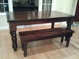 extendable table with matching bench using osborne table legs