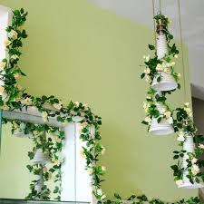 home decor flower artificial rose garland flower vine ivy home decor wed direct