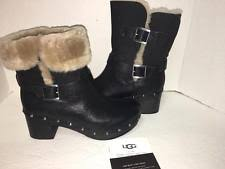 ugg womens frances boots ugg australia buckle block heel leather boots for ebay