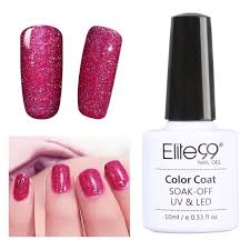cure nail polish with uv l elite99 soak off uv led bling neon gel nail polish nail art tutorial