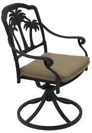 Swivel Outdoor Patio Chairs by Palm Tree Aluminum Outdoor Patio Swivel Rocker Dining Chair With