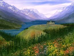 paint places painting wild places with watercolors learn to paint waterton lakes