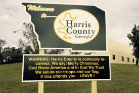 ga sheriff warns visitors to his county we say merry