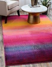 Colorful Modern Rugs Area Rug Rainbow Modern Lines 5 X 8 Rectangle Bold Color Mohawk