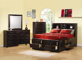 coaster phoenix king storage bed in cappuccino
