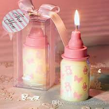 pink baby bottle candle favors baby shower wedding favors party