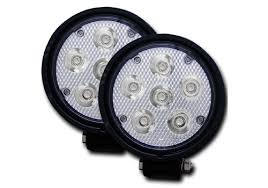 led fog light kit anzo usa rugged vision 4 5 round high intensity led fog light kit