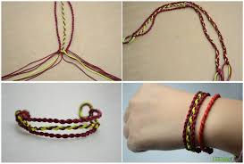 bracelet patterns with string images How to make 3 strand braided friendship bracelet out of string jpg
