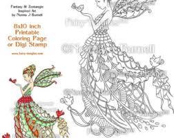 deep love mermaid seahorse fairy tangles fairytangleart
