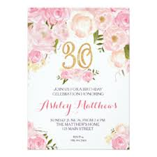 30th invitations u0026 announcements zazzle