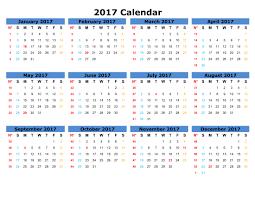 2017 yearly calendar template – Webelations