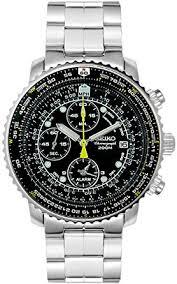 watches chronograph amazon com seiko s sna411 flight alarm chronograph