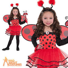 Halloween Costumes Girls Age 3 Child Lady Bird Ballerina Bug Costume Girls Insect Fancy Dress