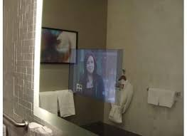 Bathroom Mirror Tv by Tv Inside The Mirror In The Bathroom Picture Of The Ritz Carlton