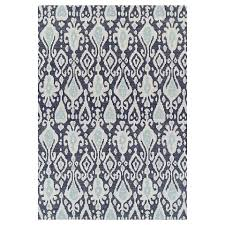 ikat blue outdoor rug threshold back yard gazebo pinterest