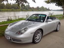silver porsche convertible classic chrome porsche 911 carrera 2 1999 private plate silver
