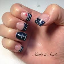 gel nail for teen age girls nautical gel nails free handed nail