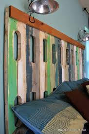beyond the picket fence pallet headboard