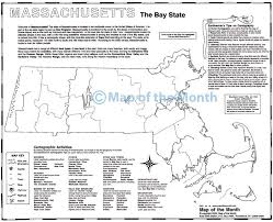 Massachusetts Map Cities And Towns by Massachusetts Map Maps For The Classroom