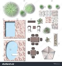 detailed landscape garden design vector elements stock vector detailed landscape garden design vector elements for structure plan make your own plan top